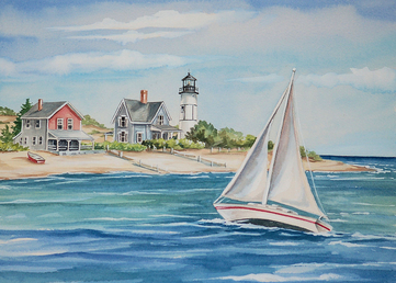 Murals macmurray designs macmurray murals renee macmurray for Abri mural cape cod